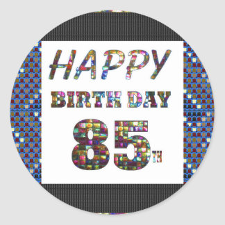 happy birthday happybirthday  designs round sticker