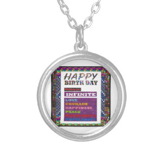 Happy Birthday HappyBirthday Greetings Gifts Round Pendant Necklace