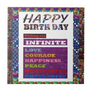 Happy Birthday HappyBirthday Greetings Gifts Small Square Tile