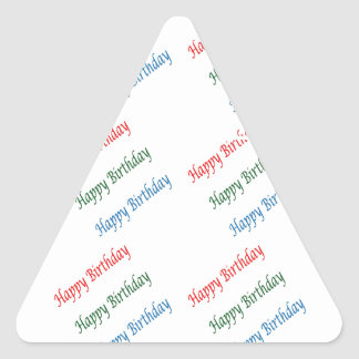 HAPPY BIRTHDAY HappyBirthday Script Colorful Light Triangle Sticker