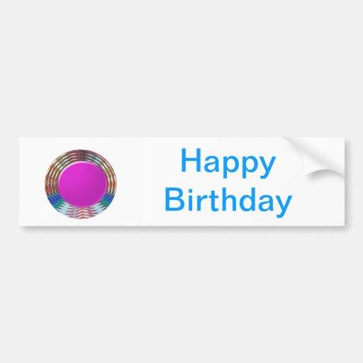 HAPPY BIRTHDAY HappyBirthday TEXT n ARTISTIC BASE Bumper Sticker