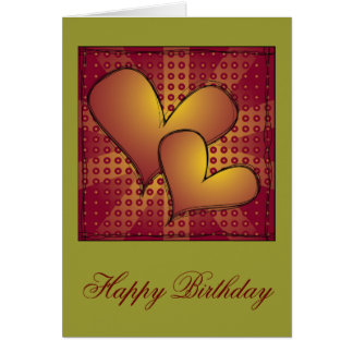 """Happy Birthday"" Heart Design Greeting Card"
