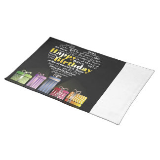 Happy Birthday Heart Placemats