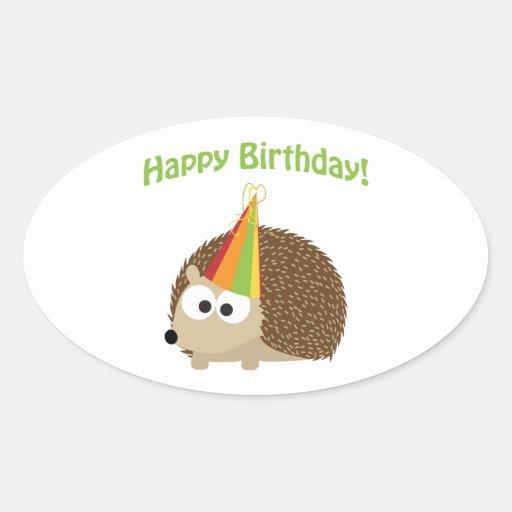 Happy Birthday! Hedgehog Stickers