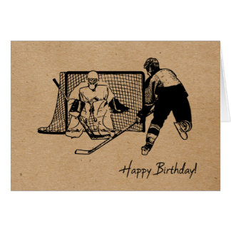 Happy Birthday! Hockey Card Ink Sketch