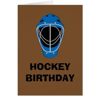 Happy Birthday Hockey Goalie Mask Card
