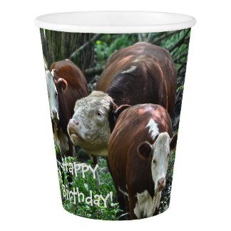 Happy Birthday Holy Cow Paper Cup