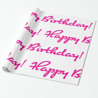 Happy Birthday! Hot Pink Casual Script