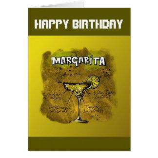 Happy Birthday Humor - Margarita Recipe Card