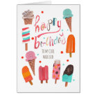 Happy Birthday | Ice cream Greeting Card