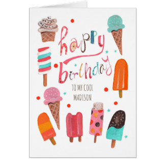 Happy Birthday | Ice cream Greeting Card