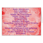 Happy Birthday in 16 languages Card