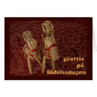 Happy Birthday in Swedish Card