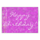 Happy Birthday in Wysteria Blooms Greeting Card