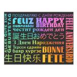 Happy Birthday International Style Postcard