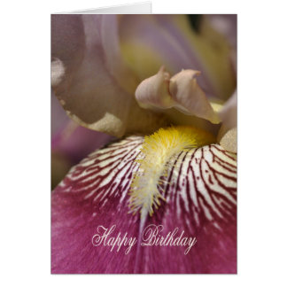 Happy Birthday - Iris Flower Greeting Card