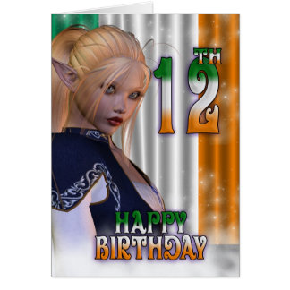 Happy Birthday Irish, Elf Card