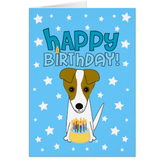 Happy Birthday Jack Russell Terrier Card
