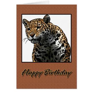 Happy Birthday Jaguar Illustration Card
