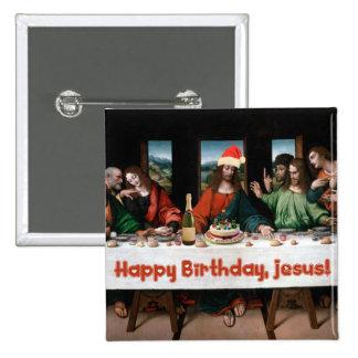 Happy Birthday, Jesus! 15 Cm Square Badge