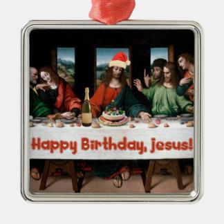Happy Birthday, Jesus! Funny Christmas Ornament