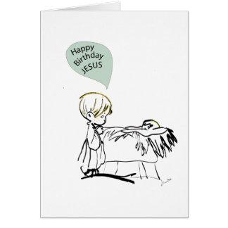 happy birthday jesus greeting card