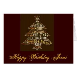 Happy Birthday Jesus II Greeting Card