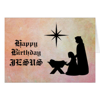 Happy Birthday Jesus - Nativity Christmas Card