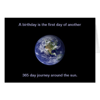 Happy Birthday: Journey around the sun Card