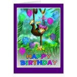 Happy Birthday Jungle style 002 Card