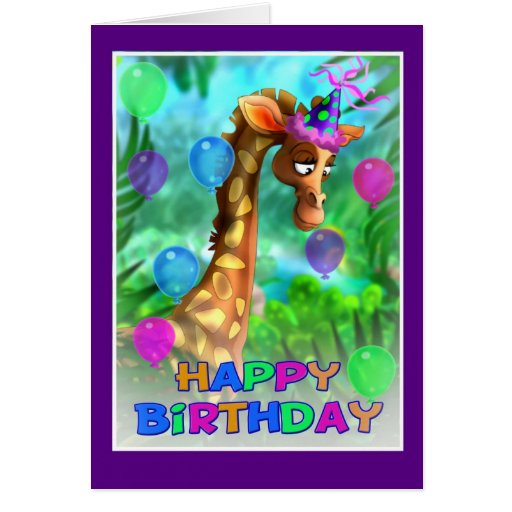 Happy Birthday Jungle style 005 Cards