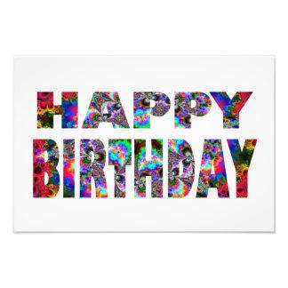 Happy Birthday Kaleidoscope Art Photo