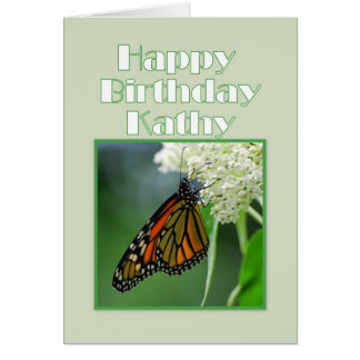 Happy Birthday Kathy Monarch Butterfly Cards