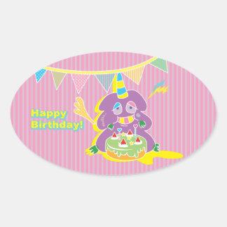 Happy Birthday Kawaii Monster cake.