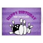 Happy Birthday Keep On Rolling Bowling Theme Card