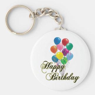 Happy Birthday Keychain- D4 Basic Round Button Key Ring