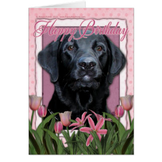 Happy Birthday - Labrador - Black - Gage Card