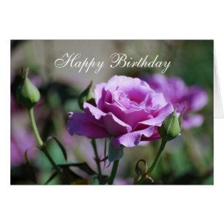 Happy Birthday Lavender Rose Card