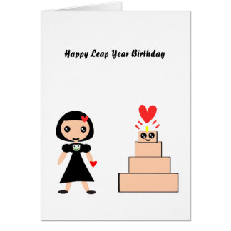 Happy Birthday Leap Year Card