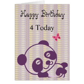 Happy Birthday Lilac Panda Card