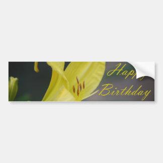 Happy Birthday - Lily Bumper Sticker