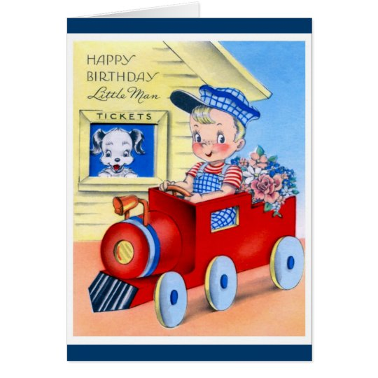 Happy Birthday - Little Man Card