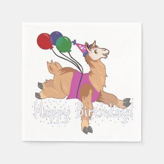 Happy Birthday Llama! Paper Napkin