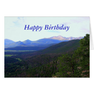 Happy Birthday, Longs Peak, Colorado Card
