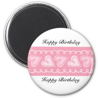 Happy Birthday Love Hearts Magnet