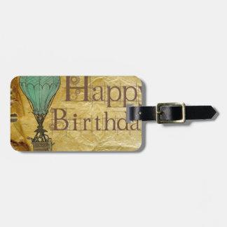 Happy-Birthday Luggage Tag