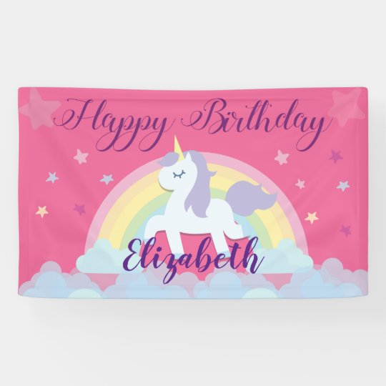 Happy Birthday Magical Unicorn banner
