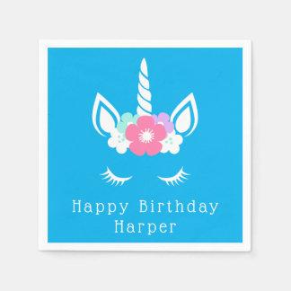 Happy Birthday | Magical Unicorn Disposable Napkins