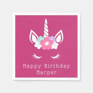 Happy Birthday | Magical Unicorn Disposable Serviette