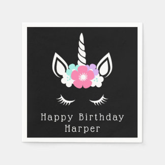 Happy Birthday | Magical Unicorn Paper Napkin